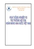 Bài tiểu luận về hoạt động thi trường mở của ngân hàng nhà nước Việt Nam