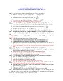 CÂU HỎI VÀ BÀI TẬP ÔN THI MÔN VẬT LÍ CHƯƠNG IV : DAO ĐỘNG ĐIỆN TỪ