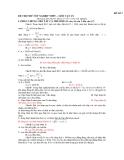ĐỀ SỐ 2 ĐỀ THI THỬ TỐT NGHIỆP THPT – MÔN VẬT LÝ