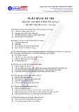 Ngân hàng Đề thi hệ thống thông tin kinh quản lý
