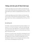 Những cách đơn giản để thoát khỏi mụn
