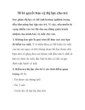 10 bí quyết bảo vệ thị lực cho trẻ