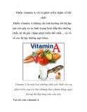 Thiếu vitamin A, trẻ bị phát triển chậm về thể chất