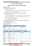 bài tập thực hành CSDL SQLSERVER