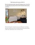 Thiết kế phòng ngủ theo phong cách Bắc Âu