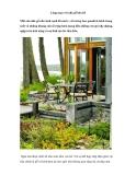 Lãng mạn với nhà gỗ bên hồ