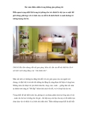 Sắc màu thiên nhiên trong không gian phòng trẻ