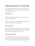28 điều giúp bạn sống vui vẻ và khoẻ mạnh
