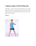 4 động tác giúp cơ thể lưu thông máu