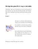 Bài tập đơn giản để có vòng eo nhỏ nhắn