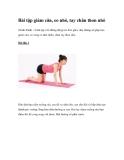 Bài tập giảm cân, eo nhỏ, tay chân thon nhỏ