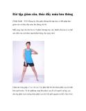 Bài tập giảm cân, thúc đẩy máu lưu thông