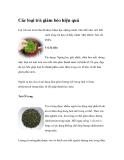 Các loại trà giảm béo hiệu quả