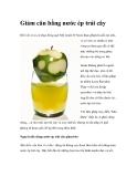 Giảm cân bằng nước ép trái cây