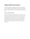 Những sai lầm trong việc giữ eo