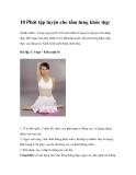 10 Phút tập luyện cho tấm lưng khỏe đẹp