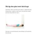 Bài tập đơn giản trước khi đi ngủ