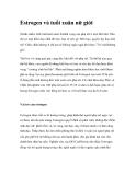 Estrogen và tuổi xuân nữ giới