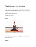 Tập luyện cho chân và eo thon