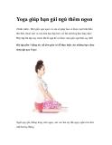 Yoga giúp bạn gái ngủ thêm ngon