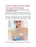 5 lưu ý chăm sóc răng miệng cho người tiểu đường