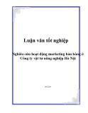 Luận văn: Nghiên cứu hoạt động marketing bán hàng ở Công ty vật tư nông nghiệp Hà Nội