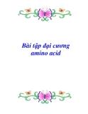Bài tập đại cương amino acid