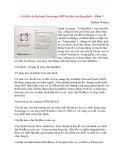 Cài đặt và cấu hình Exchange 2007 từ tiện ích dòng lệnh – Phần 3 Nathan Winters