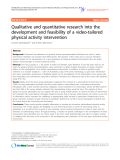"""Báo cáo y học: """"Qualitative and quantitative research into the development and feasibility of a video-tailored physical activity intervention"""""""
