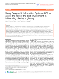 "Báo cáo y học: "" Using Geographic Information Systems (GIS) to assess the role of the built environment in influencing obesity: a glossary"""