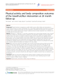 """Báo cáo y học: """"Physical activity and body composition outcomes of the GreatFun2Run intervention at 20 month follow-up"""""""