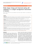 "Báo cáo y học: ""Body image change and improved eating selfregulation in a weight management intervention in women"""