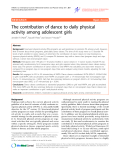 "Báo cáo y học: ""The contribution of dance to daily physical activity among adolescent girls"""