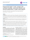 """Báo cáo y học: """" Programmed death-1 levels correlate with increased mortality, nosocomial infection and immune dysfunctions in septic shock patients"""""""