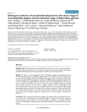 """Báo cáo y học: """" Divergent evolution of arrested development in the dauer stage of Caenorhabditis elegans and the infective stage of Heterodera glycin"""""""