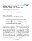 "Báo cáo y học: ""Inferring genome-scale rearrangement phylogeny and ancestral gene order: a Drosophila case study"""