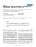 """Báo cáo y học: """" Indirect genomic effects on survival from gene expression data"""""""
