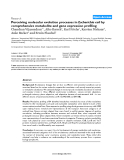 """Báo cáo y học: """"Perceiving molecular evolution processes in Escherichia coli by comprehensive metabolite and gene expression profiling"""""""
