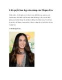 6 bí quyết làm đẹp của nàng cáo Megan Fox