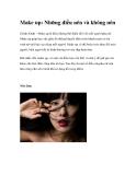 Make up: Những điều nên và không nên