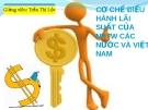 Bài thảo luận cơ chế điều hành lãi suất của Ngân hàng trung ương các nước và Việt Nam