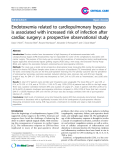 "Báo cáo y học: "" Endothelial Endotoxemia related to cardiopulmonary bypass is associated with increased risk of infection after cardiac surgery: a prospective observational stud"""