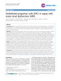 "Báo cáo y học: ""Endothelial progenitor cells (EPC) in sepsis with acute renal dysfunction (ARD)"""