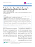 """Báo cáo y học: """"Predictive value of procalcitonin decrease in patients with severe sepsis: a prospective observational study"""""""