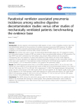 """Báo cáo y học: """"Paradoxical ventilator associated pneumonia incidences among selective digestive decontamination studies versus other studies of mechanically ventilated patients: benchmarking the evidence base"""""""