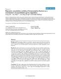 "Báo cáo y học: ""Dynamic cumulative activity of transcription factors as a mechanism of quantitative gene regulation"""