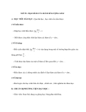 Tiết 78 : ĐẠO HÀM CỦA HÀM SỐ LƯỢNG GIÁC