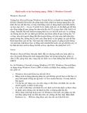 Định tuyến và lọc lưu lượng mạng - Phần 2: Windows Firewall Windows Firewall