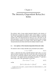 Nonlinear Optics - Chapter 4