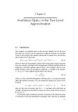 Nonlinear Optics - Chapter 6